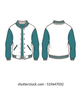 classic bomber jacket template stock vector royalty free 518895958