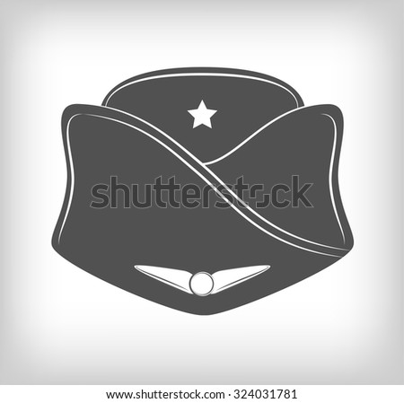 72279fb9c7d79 Classic Stewardess Hat Forage Cap Air Stock Vector (Royalty Free ...