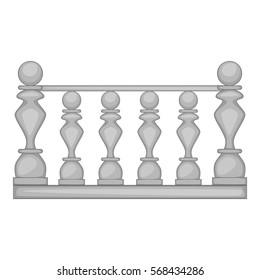 Classic stone balustrade icon. Cartoon illustration of classic stone balustrade vector icon for web