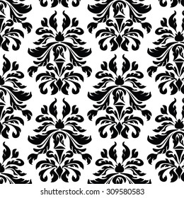 Classic style Acanthus ornament pattern. Vector