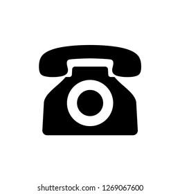 Classic Telephone icon vector