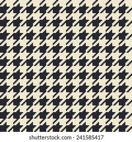 Classic textile houndstooth seamless pattern. Vector illustration.