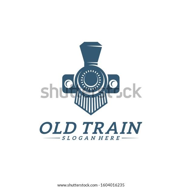 Classic Train Logo Concept Locomotive Logo Stock Vector Royalty