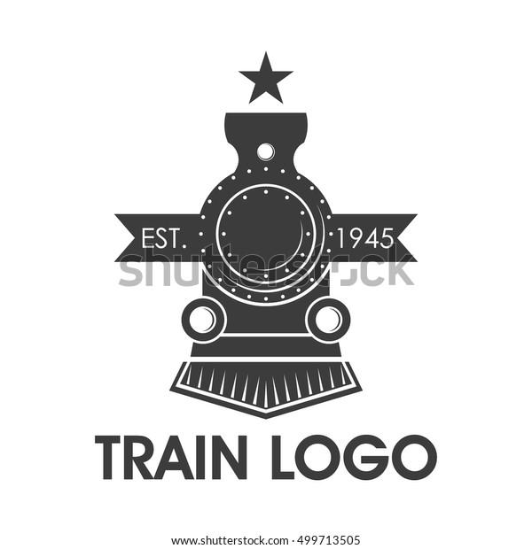Classic Train Logo Locomotive Logo Stock Vector Royalty Free