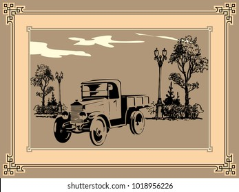 Classic truck in the park