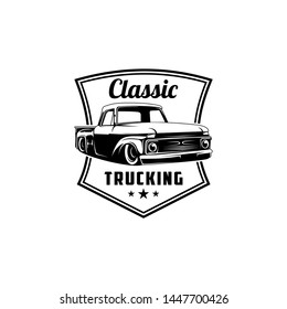 Classic trucking logo vector illustration