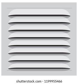 The classic ventilation grille is square plastic. Vector illustration