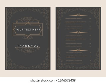 classic and vintage border and retro ornament frame style background