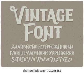 Classic vintage decorative font set