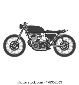 classic vintage motorcycle, cafe racer theme