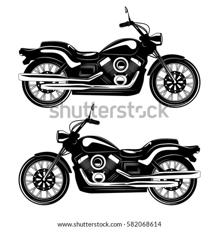 Classic vintage motorcycle isolated