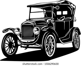 classic vintage retro car vector design