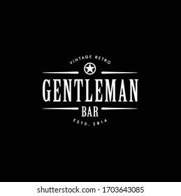 Classic Vintage Retro Label Badge logo design for gentleman cloth apparel
