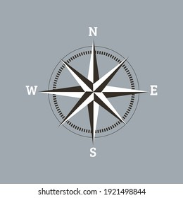 classic wind direction vector graphic illustration