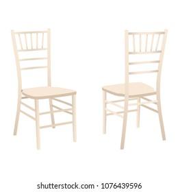 Classic wooden chair set, Chiavari or Tiffany design