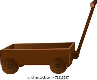 classic wooden truck for toys