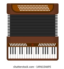 Classical accordion, harmonic. Musical instrument. Accordion isolated, vector