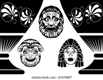 Greek Masks Images, Stock Photos & Vectors | Shutterstock