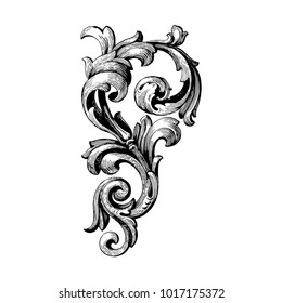 Classical baroque vector of vintage elements for design. Decorative design element filigree calligraphy vector. You can use for wedding decoration of greeting card and laser cutting.