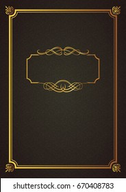 classical book cover old book vintage stock vector royalty free