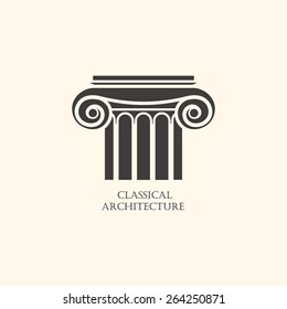 Classical column architecture element.