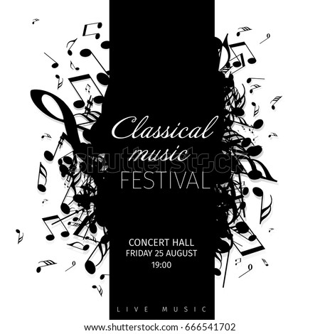 classical music concert poster template band stock vector royalty