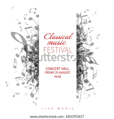 classical music concert poster template with band name location - Christmas Classical Music