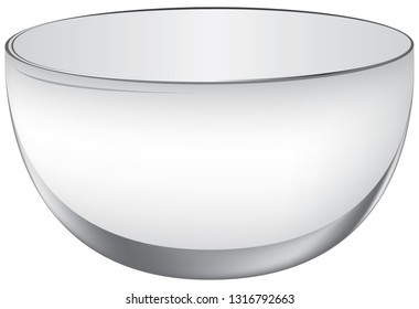 Classical oval glass big punch-bowl. Empty beverage container.