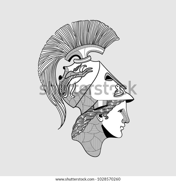 Classical Sculpture Vector Illustration Hand Drawn Stock