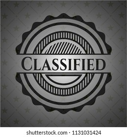 Classified realistic dark emblem