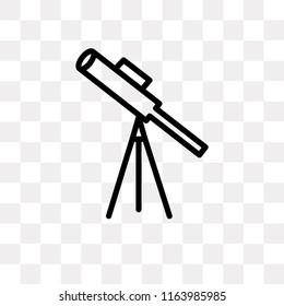 Classroom Telescope vector icon isolated on transparent background, Classroom Telescope logo concept