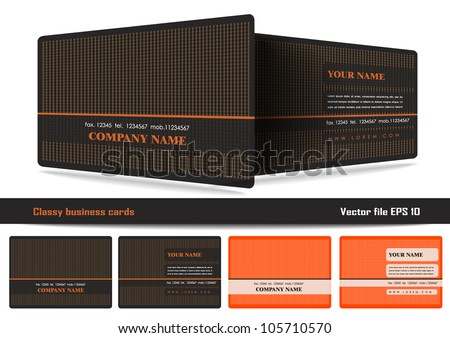 Classy Business Cards Stock Vector Royalty Free 105710570
