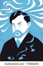 Claude Debussy vector llustration
