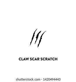 claw scar scratch icon vector. claw scar scratch sign on white background. claw scar scratch icon for web and app
