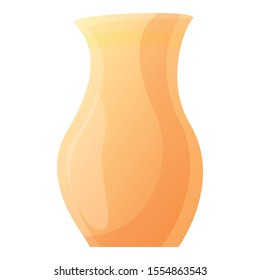 Clay vase icon. Cartoon of clay vase vector icon for web design isolated on white background