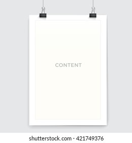 Clean A4 Paper Vector Design  Mock Up For Your Content