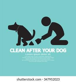 Clean Up After The Dog Symbol Vector Illustration
