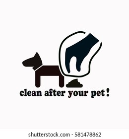 Clean after pet  icon Vector design.
