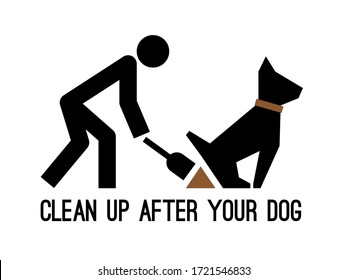 Clean up after your dog pictogram. Bags excrement cleaning icon, puppy poop picking silhouette sign, vector illustration