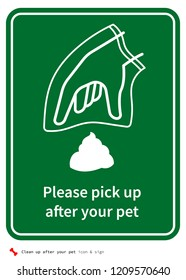 Clean after your dog sign
