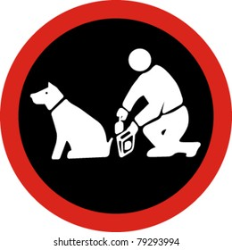 Clean up after your pet in vector