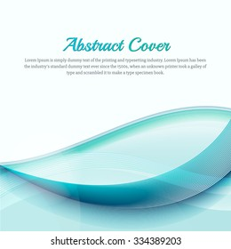 Clean background with light blue gradient and blend. Business style or technology clean design. Modern vector backdrop with blue gradient and wave. Template cover or page