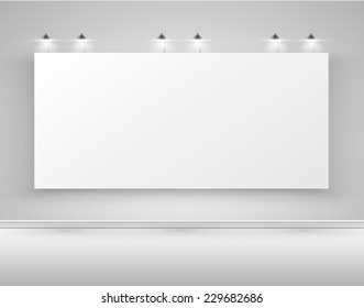 Clean billboard for advertising, vector