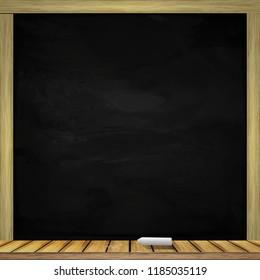 Clean black сhalkboards background. Vector illustration