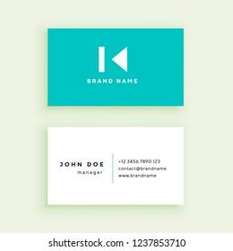Clean blue business card