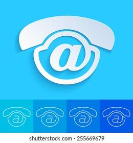 Clean and creative conceptual contact us button for web design delemet - Voicemail icon