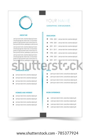 Clean Cv Resume Template Design Vector Isolated Background
