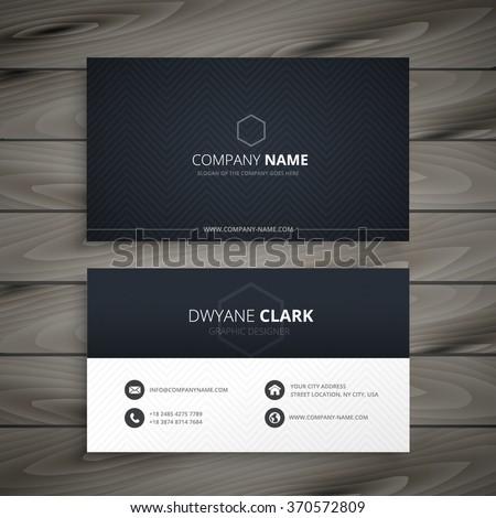 Clean dark business card stock vector royalty free 370572809 clean dark business card colourmoves