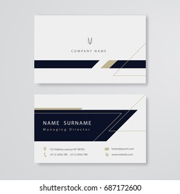Clean design business card flat template vector