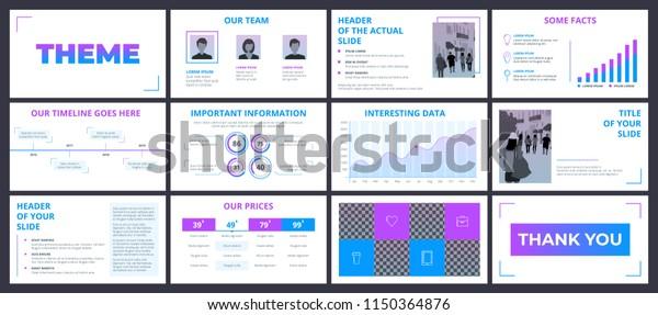 Clean Design Business Presentation Template Vector Stock Vector